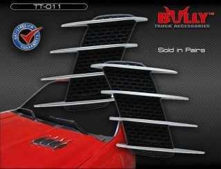 Bully Universal Chrome Quad Fin Flexible Side/Hood Vent