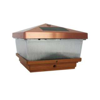 Hampton Bay Outdoor Antique Copper Solar Post Cap Light with LED 47022