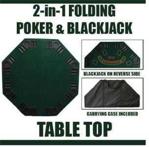 Folding Poker & Blackjack Table Top w/carrying case NEW