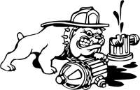 Dog Vinyl Sticker Decal Truck Dodge Chevy Ford firefighter company