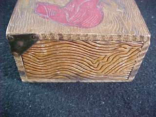 Antique Flemish? Art Nouveau Cedarwood Wood Box