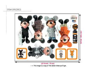 Disney Mickey Mouse Figure Wall Sticker Decal Paper Kid