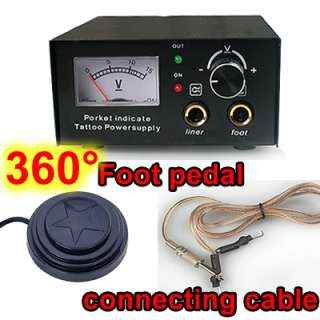 360° Foot Pedal Tattoo Power + Clip Cord Foot Pedal UK