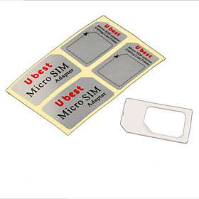to Standard Sim Card Adapter (White),  On All Gadgets