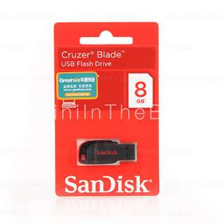 US$ 14.99   8GB SanDisk Cruzer Blade USB Flash Drive (Black), Free