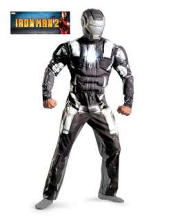 Mens Classic Muscle Iron Man 2 War Machine Costume