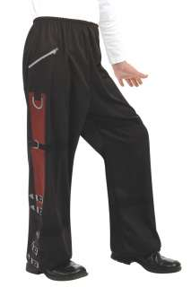 Boys Black Michael Jackson Buckle Pants   Michael Jackson Costumes