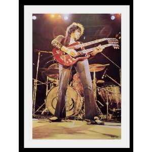 Led Zeppelin Jimmy page poster approx 34 x 24 inch ( 87 x 60