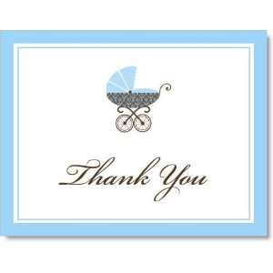 In the Baby Carriage Blue Thank You Cards
