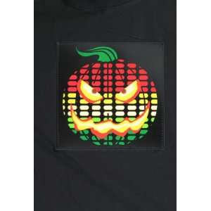 LED Sound Activated Pumpkin T Shirt (Large) Toys & Games