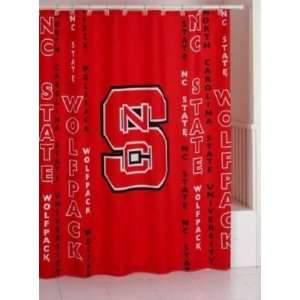 North Carolina State Wolfpack Bathroom Shower Curtain NCAA