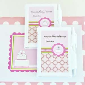 Personalized Notebook Favors   Pink Cake 24 Set Health