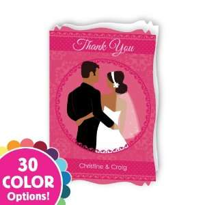 Custom Wedding Couple   Personalized Bridal Shower Thank You Cards