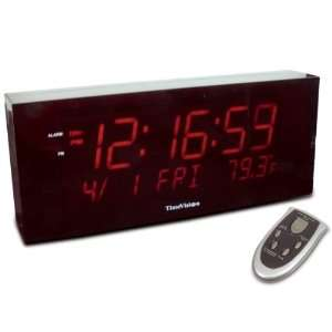 Super Large Digit Clock w Calendar and Temperature Health