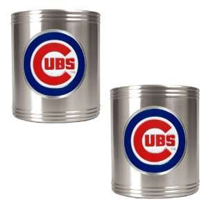 Chicago Cubs MLB 2pc Stainless Steel Can Holder Set