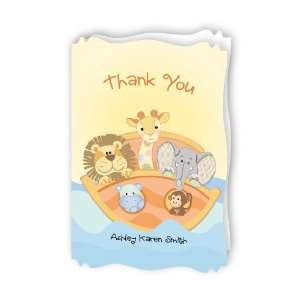 Noahs Ark   Personalized Baby Thank You Cards With