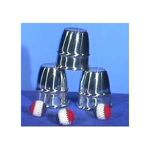 Cups & Balls Large Aluminum Morrissey Tricks Magic Set