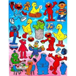 Sesame Street ELMO and Friends STICKER SHEET PM292 ~ Cookie Monster