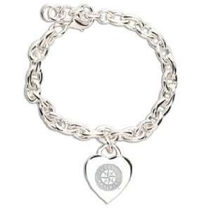 MLB Seattle Mariners Bracelet   Heart Charm