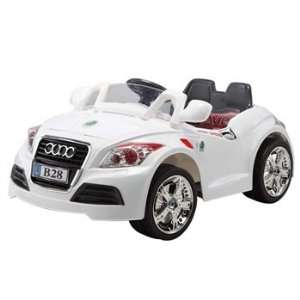 Kids Ride on Rechargeable Audi Style White Car with 4