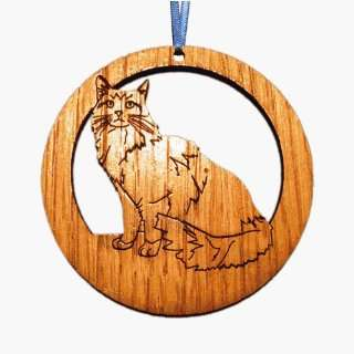 CAMIC designs CAT004N Laser Etched Maine Coon Cat Ornaments   Set of 6