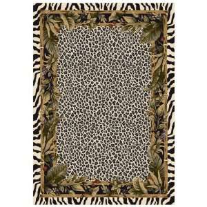 Jungle Safari Area Rug  Snow Leopard