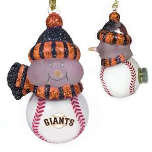 San Francisco Giants Mlb All Star Light Up Acrylic Snowman Ornament (3