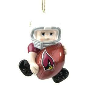 NFL Arizona Cardinals Little Guy Football Player Christmas Ornaments