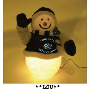 Pack of 2 NCAA LSU Fiber Optic Snowman Christmas