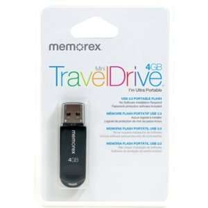 Memorex Mini TravelDrive 4 GB USB 2.0 Flash Drive   Black
