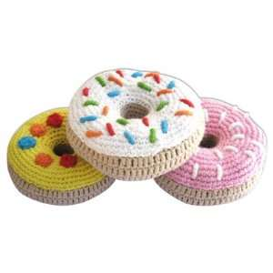 Yellow Label Kids Knitted Donut Rattles Toys & Games
