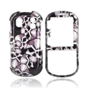 For Samsung Intensity 2 Hard Case Cover SKULLS BLACK