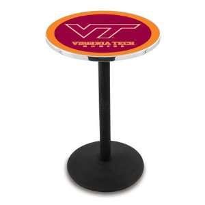 Tech Counter Height Pub Table   Round Base   NCAA