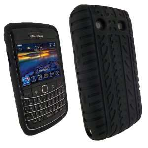 iGadgitz Black Silicone Skin Case Cover with Tire Tread