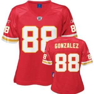 Tony Gonzalez Reebok NFL Replica Kansas City Chiefs Womens Jersey