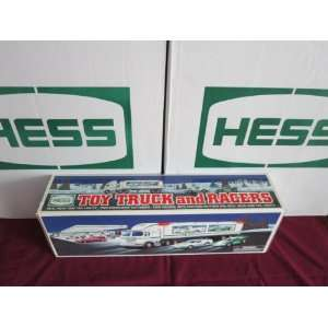 1997 Hess Toy Truck with 2 Racers