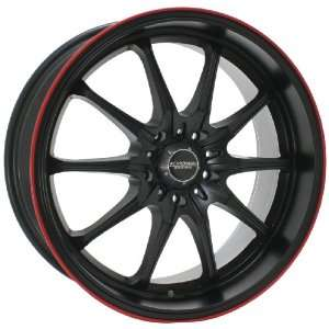 Kyowa Racing 656 Trek 10 Flat Black and Red Stripe Wheel with Painted