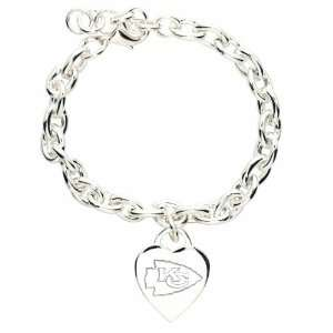 NFL Kansas City Chiefs Heart Charm Bracelet