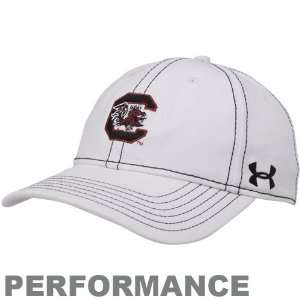 Under Armour South Carolina Gamecocks Ladies White Charged Adjustable