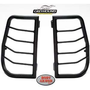 Body Armor TN 7135 Black Large Tail Light Guard for Toyota Tundra