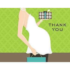Thank You Note   Belly Baby Shower   Blue