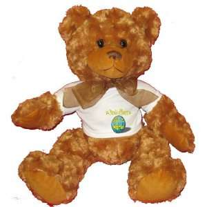 Parole officers Rock My World Plush Teddy Bear with WHITE