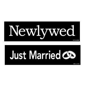 Two In Love 2 Pack Newlywed/Just Married Car Decal Bumper