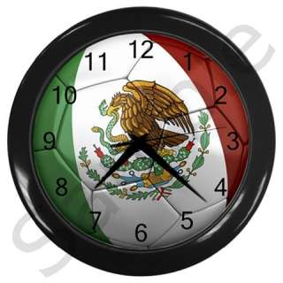 Mexico Mexican Flag Soccer ball Football Wall Clock