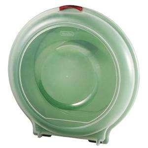 GREEN STERILITE PLASTIC CHRISTMAS WREATH STORAGE CASE