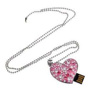 8GB U Disk Heart Shaped USB Flash Memory Drive with