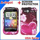 HTC Wildfire S G13 T Mobile Metro PCS Purple Love Heart Hard Case
