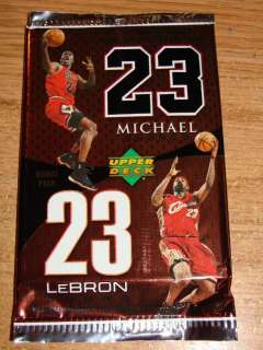 2005 06 Upper Deck Michael Jordan / Lebron James Bonus Pack JERSEY SP