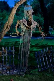 HANGING TREE MAN LIGHTS SCARY OUTDOOR PROP HALLOWEEN